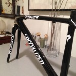 Specialized Tarmac after top tube repair and complete paint job.