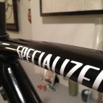 Specialized Tarmac -  Repaired, client wanted a stealthier black paint job with new decals.