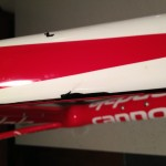 Cracked Cannondale Top Tube